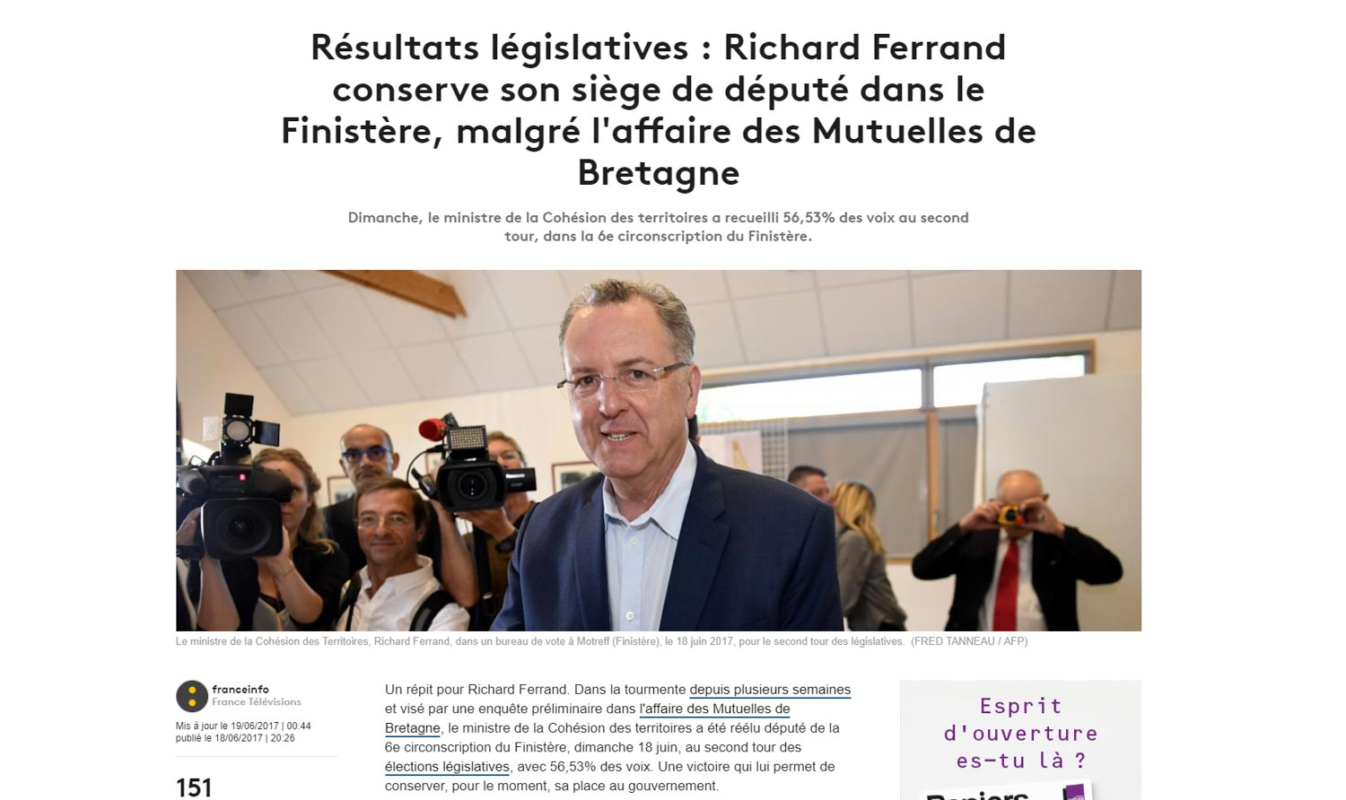 Richard Ferrand, sans cigarette